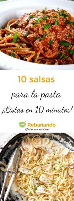 Pasta Italianas Salsas Para 21 New Ideas Pot Pasta, Pasta Dishes, Pasta Sauces, Casserole Recipes, Pasta Recipes, Pasta Facil, Pasta Casera, Homemade Hamburgers, Easy Dinner Recipes