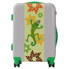 Lindo lagarto verde, lizard. Regalos, Gifts. #maleta #bagage #equipaje