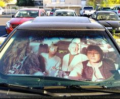 Would it be too much of a conflict of interest to get a Star Wars sunshade featuring the Millennium Falcon crew for my windshield if I already have Darth Vader floor mats installed?