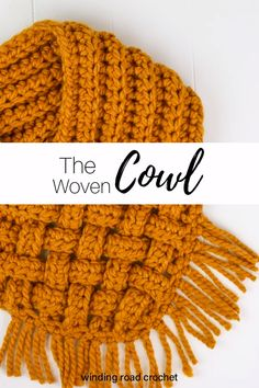 The Woven Cowl: Free Crochet Pattern with Video Tutorial - Winding Road Crochet Mens Scarf Knitting Pattern, Knitting Patterns Free, Crochet Patterns, Easy Knitting, Start Knitting, Cable Knitting, Knitting Machine, Hat Patterns, Knitting Ideas