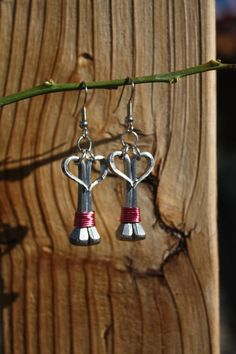 Heartshaped horseshoe nail earrings by LuckyHorseDesigns on Etsy, $22.00