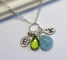 Birthstone Jewelry Sterling Silver Necklace by MenuetDesigns