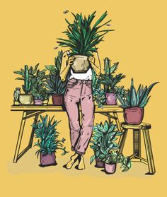 me after 5 mins of plant shopping insta Plant Aesthetic, Aesthetic Art, Plant Illustration, Grafik Design, Anime Art Girl, Painting & Drawing, Plant Painting, Art Pictures, Cute Art