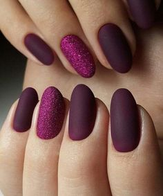 Stunning Purple Nail Art Designs For Wedding - nailart Purple Nail Art, Purple Nail Designs, Best Nail Art Designs, Matte Purple Nails, Matte Gel Nails, Acrylic Nails, Purple Manicure, Red Nail Art, Matte Makeup