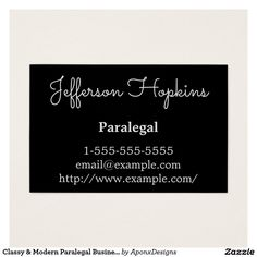 Minimalist and plain paralegal business card pinterest paralegal classy modern paralegal business card colourmoves