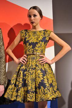 alice + olivia Reese flare box pleat dress. Adorable!