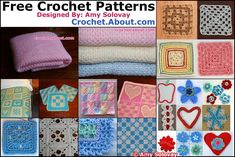 Free Crochet Patterns for All of These Designs Are Available Here at Crochet.About.com.