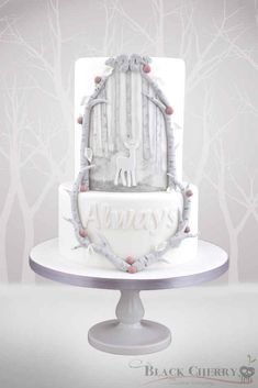 Or a beautiful Patronus-inspired cake.