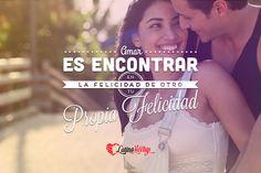 """""""Amar es encontrar en la felicidad de otro tu propia felicidad."""" ¡Hermoso y cierto!  #felicidad #amor #love #latino #latina www.latinomeetup.com - La comunidad líder en contactos latinos."""