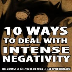 10 Ways To Deal With Intense Negativity  Have you ever been in a situation where the people around you are in an absolute stink? A prolonged state of 'negativity' where it seems like nothing you say or do, no matter how well intentioned, can encouraged them to come back into their heart?  This blog will help <3