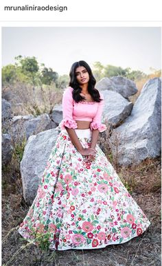 Beautiful Desginer White and Pink Color Party Wear Lehenga Choli-Bridal Lehenga Store Pink Lehenga, Bridal Lehenga Choli, Lehenga Gown, Anarkali Suits, Indian Dresses, Indian Outfits, Bridal Lehenga Collection, Party Wear Lehenga, Indian Attire