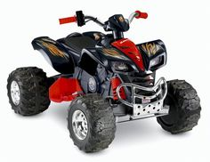 Buy this 4 wheeler to your kids and they might said.very awesome. A gift idea - 12 Volt Ride On Toys Kids 4 Wheelers, Kids Power Wheels, Youth Atv, Kids Atv, Kids Ride On Toys, Best Baby Toys, Atv Riding, Black Accents, Tricycle