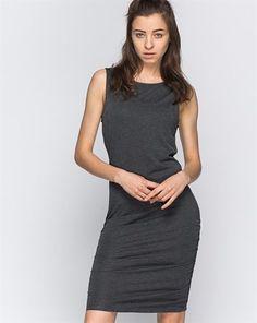 Vero Moda Gri Melanj Büzgü Detaylı Basic Elbise  Liste fiyatı: 49.99 TL     Fiyat : 24.99 TL (KDV dahil)