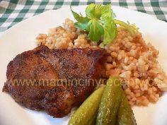 Vepřové plátky s tarhoňou Grains, Food And Drink, Rice, Bulgur, Seeds, Laughter, Jim Rice, Korn