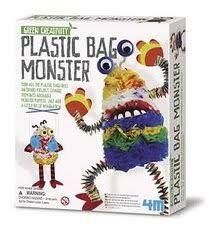 4M Green Creativity - Sac monstre en plastique
