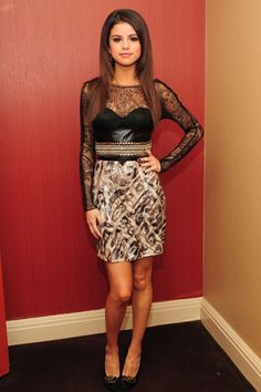 Selena Gomez wore a Pucci dress for an appearance on The Late Show With David Letterman.