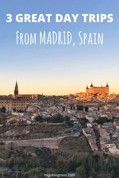 The best day trips from Madrid, including Toledo, Segovia and Avila! Places To Travel, Travel Destinations, Places To Visit, Travel Europe, Grimm, Spain Travel Guide, Madrid Travel, European City Breaks, Toledo Spain