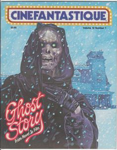 """CINEFANTASTIQUE Volume 12, #1: February 1982, NM, Detailed coverage of """"Ghost Story"""" (includes Albert Whitlock's visual effects and Dick Smith's make-up), Interview with Peter Straub, """"Quest For Fire,"""" John Carpenter's remake of """"The Thing,"""" """"Heartbeeps"""" (with Stan Winston's make-up). $15"""