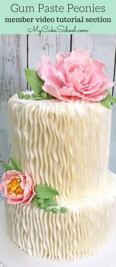 How to Make a Gum Paste Peony   My Cake School