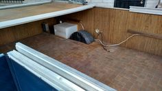 Interior pic of popup. Trailer is all gutted.
