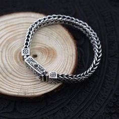 Silver Bracelet With Heart Info: 8068483444 Mens Silver Jewelry, Mens Sterling Silver Necklace, Wholesale Silver Jewelry, Silver Bracelets, Bracelets For Men, Silver Rings, Men's Jewelry, 925 Silver, Mens Bracelet Fashion