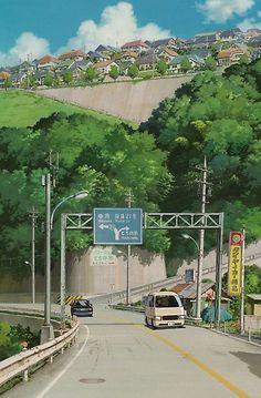 The art of Studio Ghibli. Aesthetic Backgrounds, Aesthetic Wallpapers, Aesthetic Art, Aesthetic Anime, Aesthetic Japan, Aesthetic Pictures, Art Studio Ghibli, Studio Ghibli Poster, Studio Ghibli Background