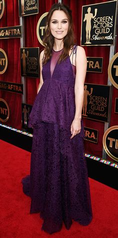 Kiera Knightly, SAG 2015. This is how to do maternity on the red carpet.