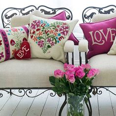 Cushions by Jan Constantine-those pillows!!!