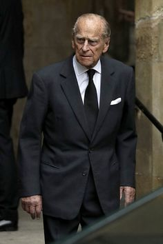 Britain's Prince Philip, Duke of Edinburgh leaves after attending the funeral service of the 2nd Countess Mountbatten of Burma, Patricia Knatchbull at St Paul's Church in Knightsbridge, London on June 27, 2017.