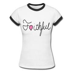 Faithful Tee www.godmoves.spreadshirt.com