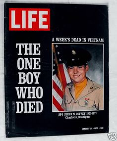 One Boy Who Died The Week's Dead Vietnam War 1972 January 21 Life Magazine
