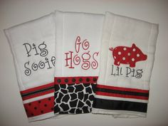 Razorback baby burp cloths