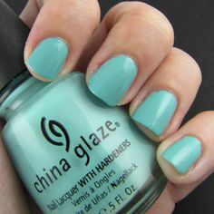 For Audrey - Another summer pedicure fave. Love that Tiffany blue