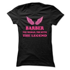 BARBER, the woman, the myth, the legend - #gift tags #man gift. BUY NOW => https://www.sunfrog.com/Names/BARBER-the-woman-the-myth-the-legend-dqmbgnckts-Ladies.html?68278