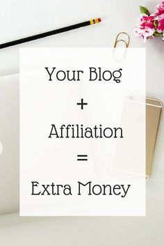 Your Blog + Affiliation = Extra money for you. Learn how the easy steps to start earning in 24hours