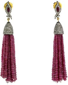 Ruby and Diamond Tassels