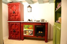Fancy cottage play kitchen