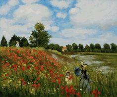 Poppy fields in Argentuil, Claude Monet