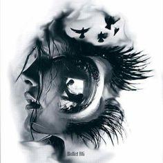 Sad Drawings, Art Drawings Beautiful, Dark Art Drawings, Pencil Art Drawings, Art Drawings Sketches, Tattoo Sketches, Tattoo Drawings, Bild Tattoos, Body Art Tattoos