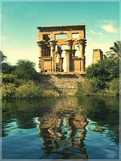 Philae Temple - View from the Nile. http://www.jetradar.com/?marker=126022