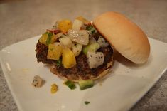 If you're looking for an option other than grilling, Bake Beef & Pretzel Burgers! Food Dishes, Main Dishes, Tailgating Recipes, Food Reviews, Spring Recipes, Sandwich Recipes, Winter Food, Burgers, Hamburgers