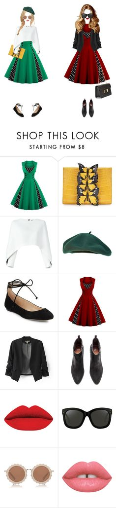 """""""Untitled #908"""" by shoylove ❤ liked on Polyvore featuring Nancy Gonzalez, Balmain, Karl Lagerfeld, Linda Farrow, House of Holland, Lime Crime and Tom Ford"""