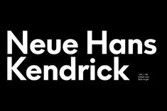 Neue Hans Kendrick Demo Font | Contemporary Geometric Modern Sans-serif Free Font | Great for your blog and online business graphics