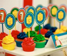 Mini Lego Cupcakes