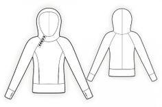 Lekala Sewing Patterns - Sweatshirt with hoodie