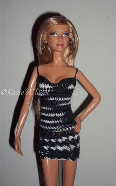 Crochet mini dress for Model Muse Barbie Basics