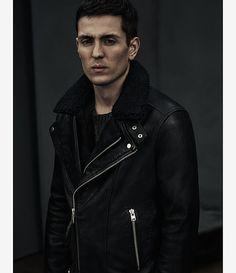 Men's Prospect Leather Biker Jacket (Black) - product_image_alt_text_4