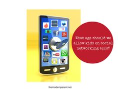 What age should kids be allowed on social networking apps? Helping parents keep kids safe on social networking sites.