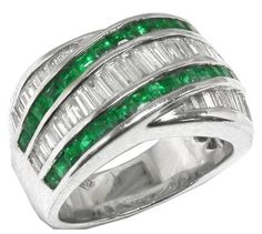 The only thing better than emeralds are emerald cut diamonds...this one has both...Love IT!!