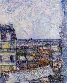 View of Paris from Vincents Room in the Rue Lepic - Vincent van Gogh